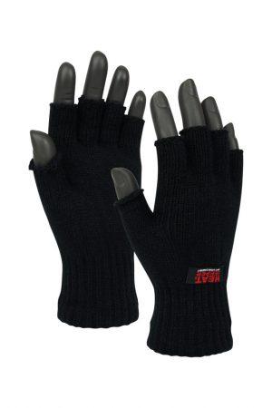 Vingerloze heren thermo handschoenen zwart
