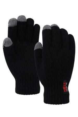 Thermo heren handschoenen met i-touch zwart