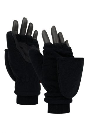 Thermo heren thinsulatie fleece handschoenen/wanten zwart