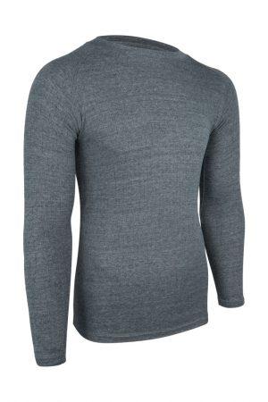 Heren thermoshirt met lange mouwen grijs
