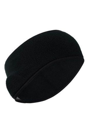 Thermo fleece hoofdband zwart